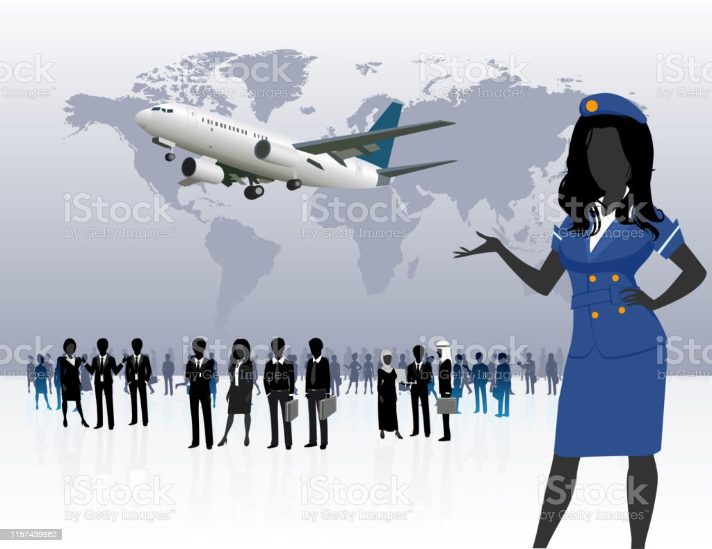 World Business Travel People Silhouette