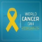 Yellow ribbon at world map conceptual illustration vector.
