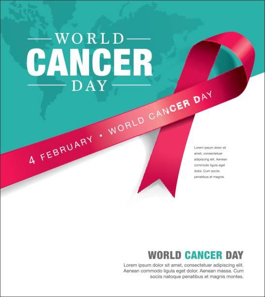 dünya kanser günü - aids stock illustrations