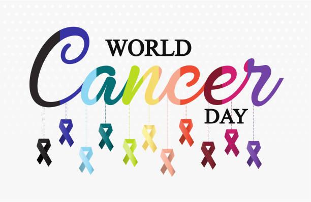 world cancer day - пищевая цепь stock illustrations