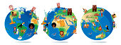 World Cartoon Map