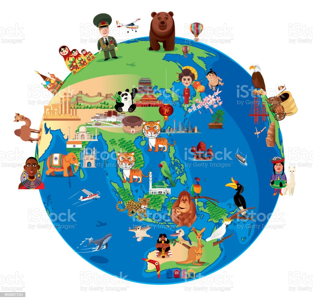 World cartoon map stock vector art more images of amazon world cartoon map royalty free world cartoon map stock vector art amp more images gumiabroncs Images