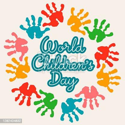 istock World Children's Day Handprints 1282404832