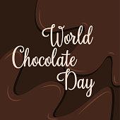World Chocolate Day vector.World Chocolate Day vector. Important day. Chocolate Day Poster, July 11. Celebrate world chocolate day with lettering word.