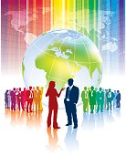 Confrontation of different business teams and their leaders