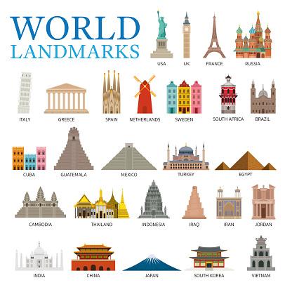 World Countries Landmarks Set