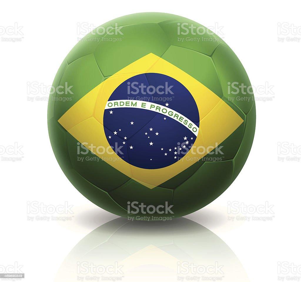 World Cup Brazil Soccer Ball royalty-free stock vector art
