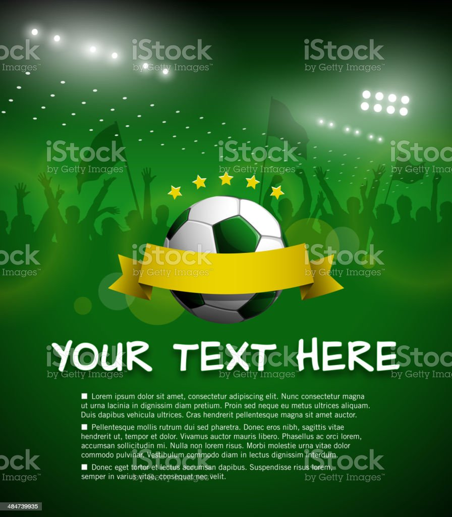 World Cup Invitation vector art illustration
