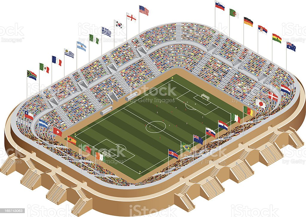 Estadio World Cup - ilustración de arte vectorial