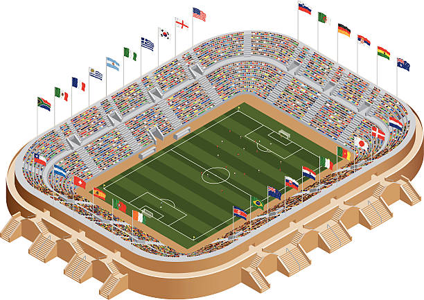 ワールドカップ競技場 - メキシコの国旗点のイラスト素材/クリップアート素材/マンガ素材/アイコン素材