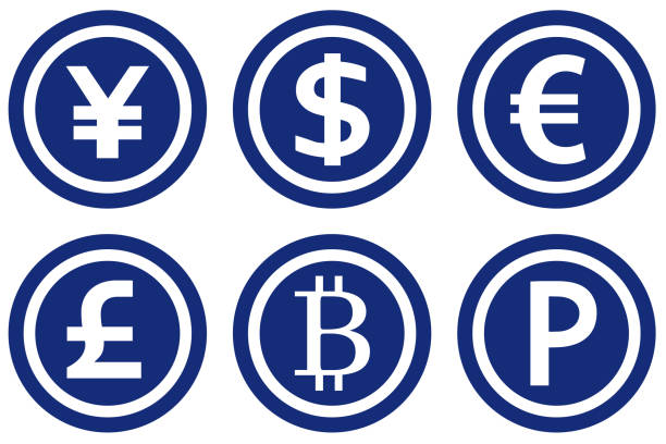 World currency set. World currency set. japanese currency stock illustrations