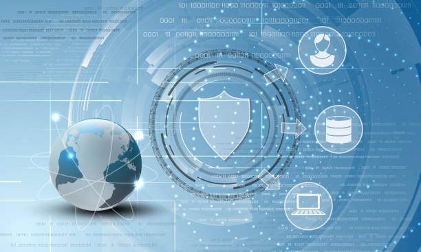 Welt-Daten-Schutz-abstrakten Hintergrund – Vektorgrafik
