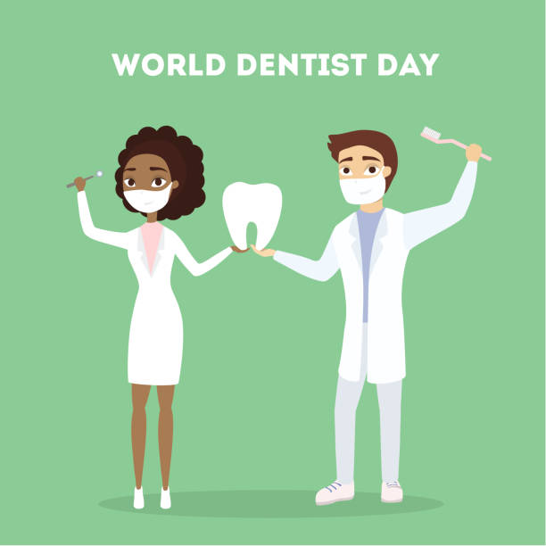 world dentist day. - dentist stock illustrations