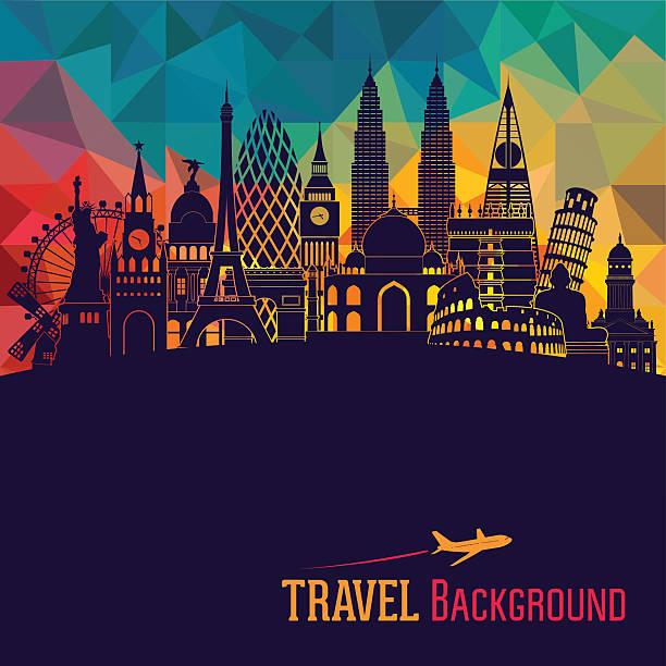 world detailed skyline. vector illustration - europe travel stock illustrations, clip art, cartoons, & icons