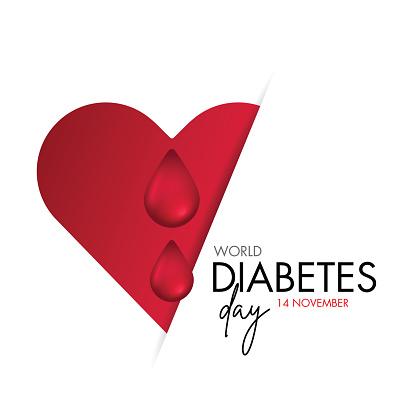 World diabetes day vector image design illustration stock illustration
