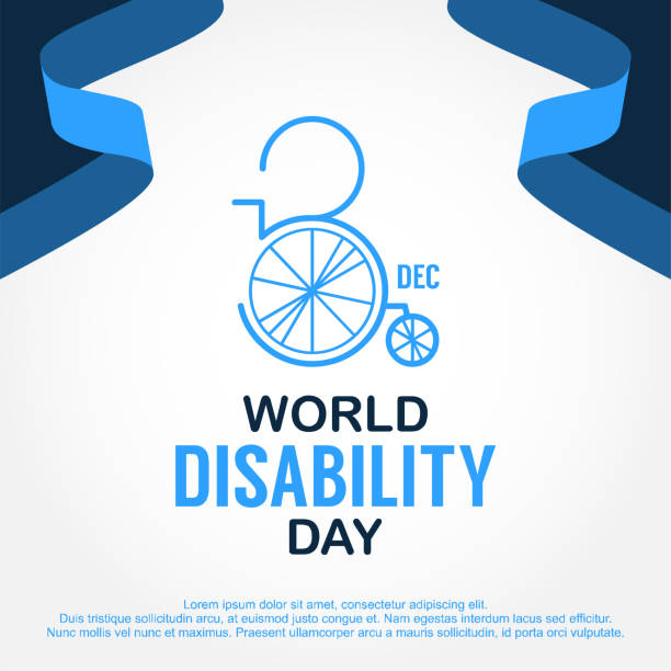 World Disability Day Design Template Vector illustration vector art illustration