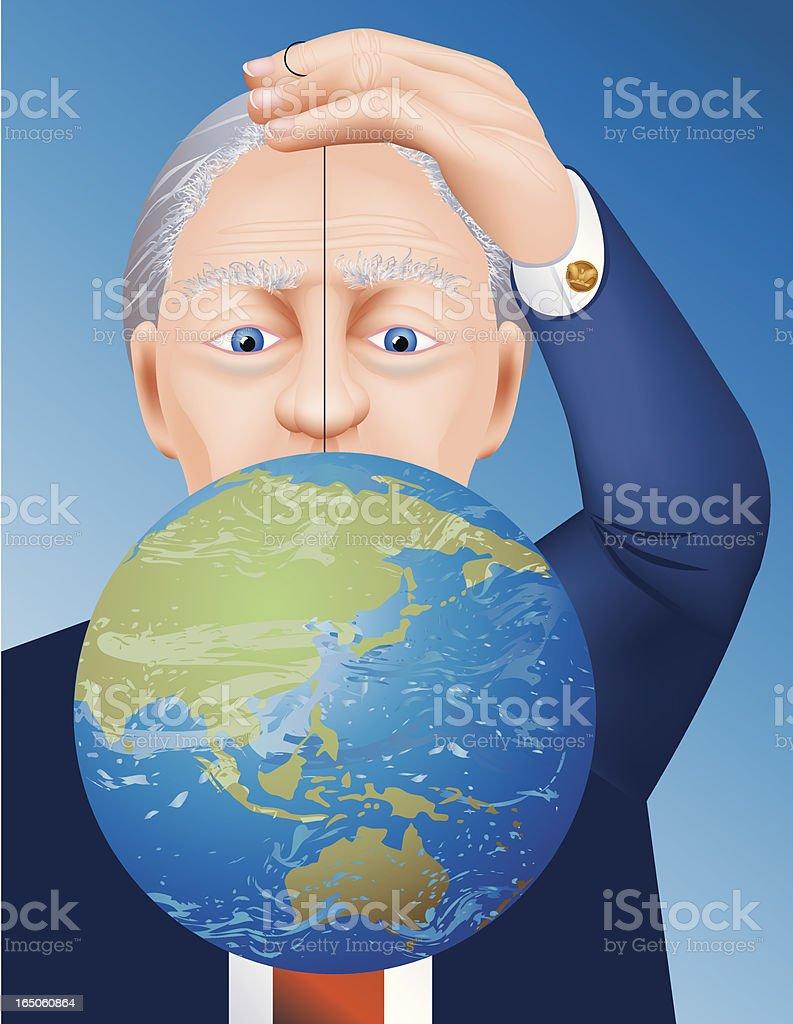 World Domination royalty-free stock vector art