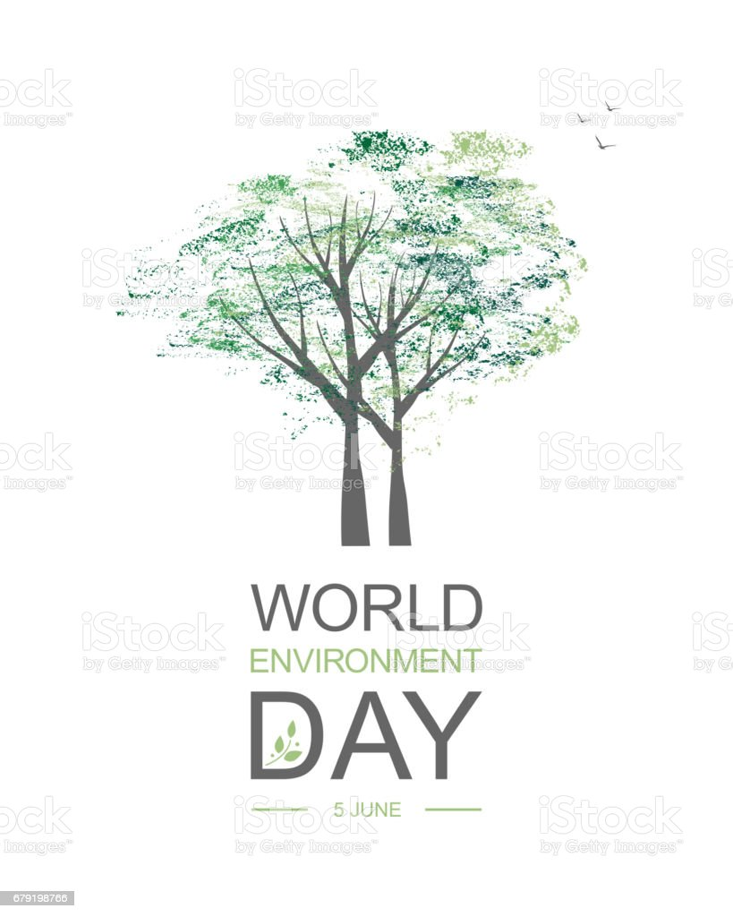 World Environment Day card or background with tree abd leaves. world environment day card or background with tree abd leaves - arte vetorial de stock e mais imagens de abstrato royalty-free