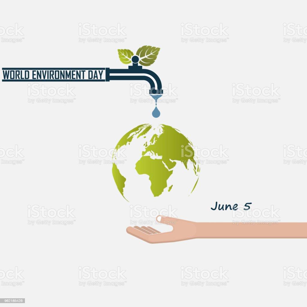 Ilustración de Mundo Medio Ambiente Día Concepto Vector Plantilla De ...