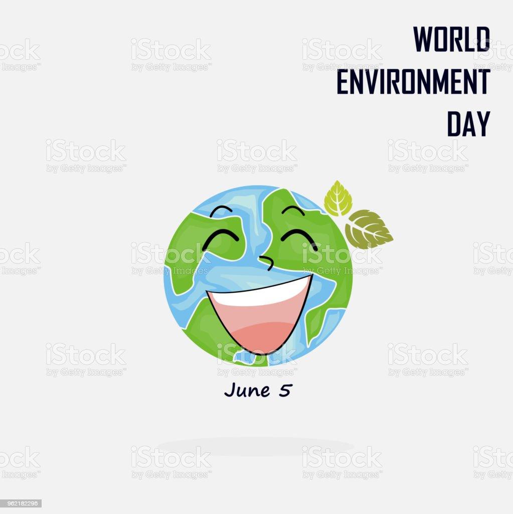 Ilustración de Mundo Medio Ambiente Día Concepto Vector Logo ...