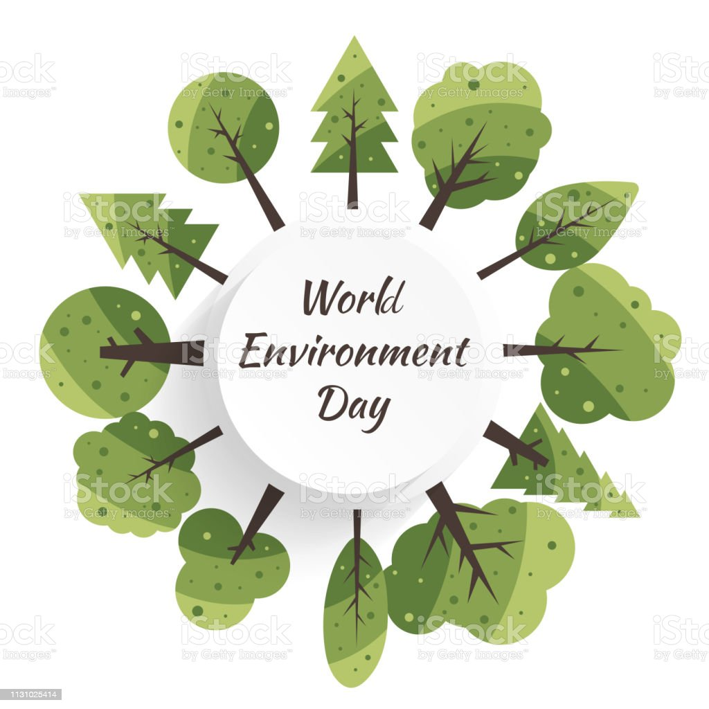 World Environment Day concept with Save the world. Nature or Healthy....