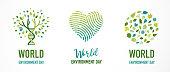 World Environment day, go green concept design series. Vector illustration