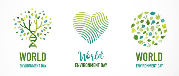 World Environment day, go green concept design. Vector illustration vector art illustration