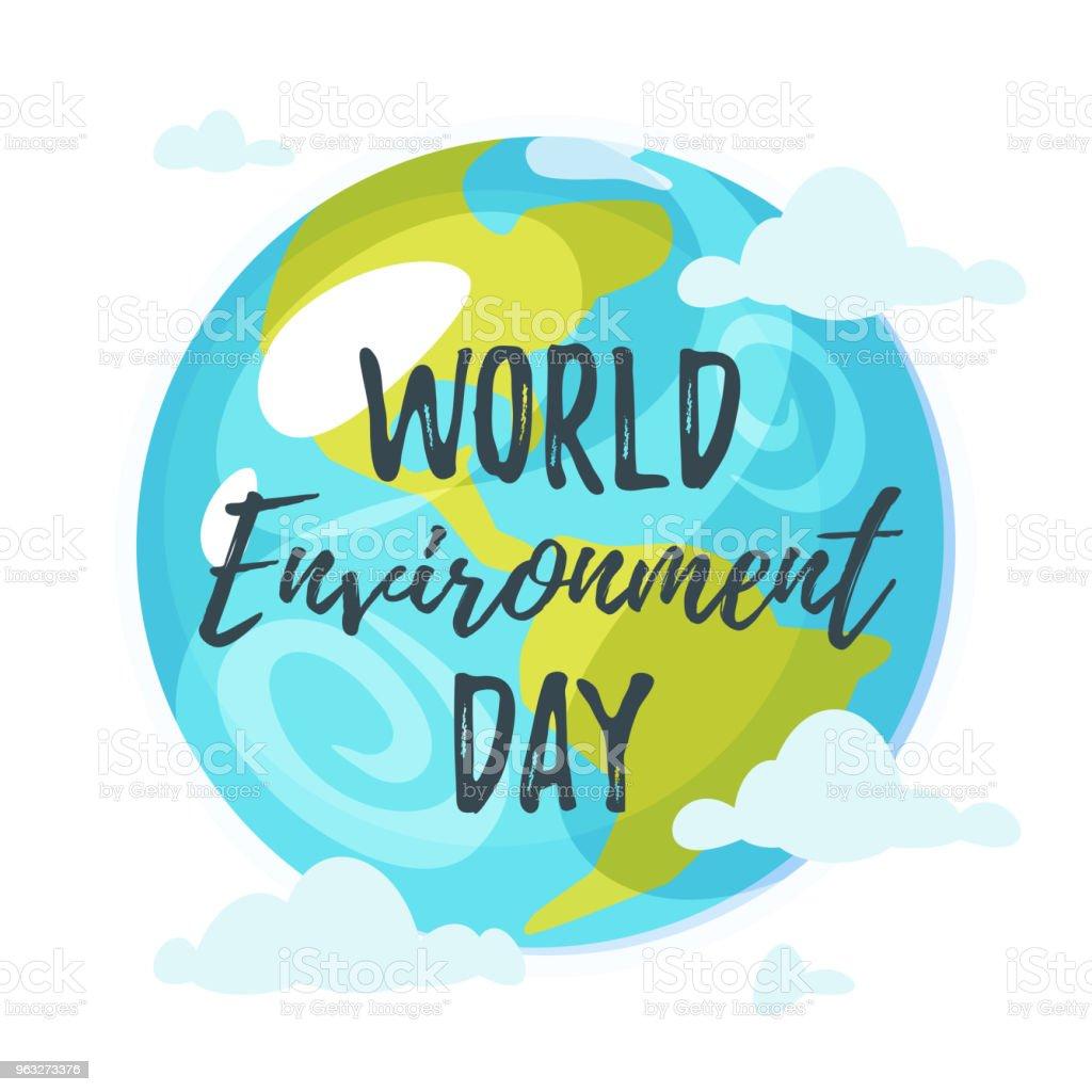 Tarjeta de felicitación día del medio ambiente mundial - ilustración de arte vectorial