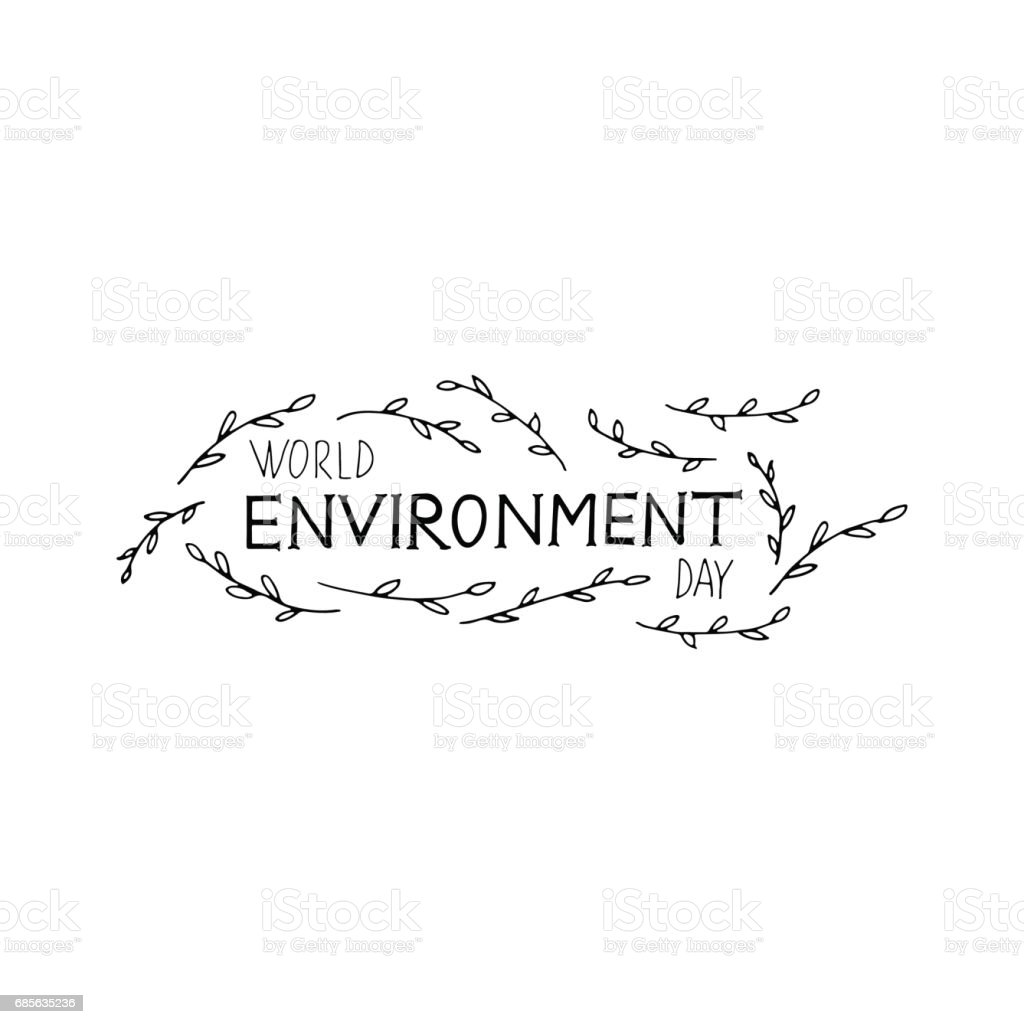 World Environment Day hand lettering with leaves. Vector hand drawn illustration. world environment day hand lettering with leaves vector hand drawn illustration - arte vetorial de stock e mais imagens de beleza royalty-free