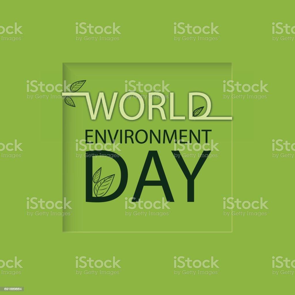 Dünya çevre Günü Logosu Yeşil Bir Arka Plan Stok Vektör Sanatı 5