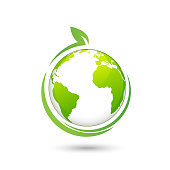 World Environmental and Ecology friendly design logo, vector illustration