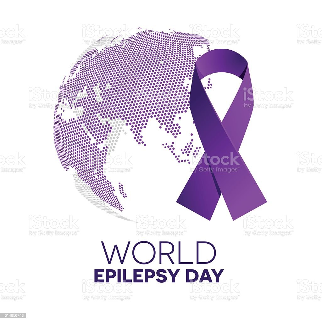 World epilepsy day. vector art illustration