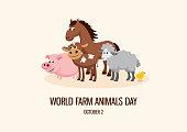 istock World Farm Animals Day vector 1277528894