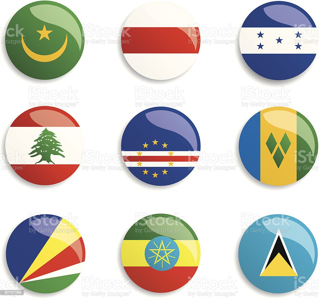 World Flag Buttons From top left to bottom right: Belarus stock vector