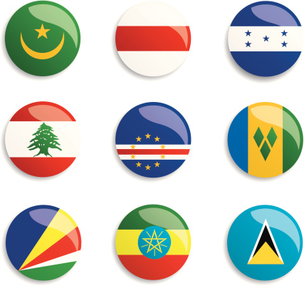 World Flag Buttons Stock Illustration - Download Image Now