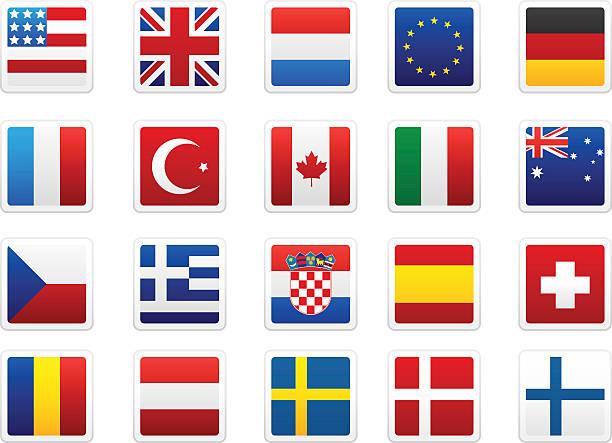 世界の国旗コレクション - ユニオンジャックの国旗点のイラスト素材/クリップアート素材/マンガ素材/アイコン素材