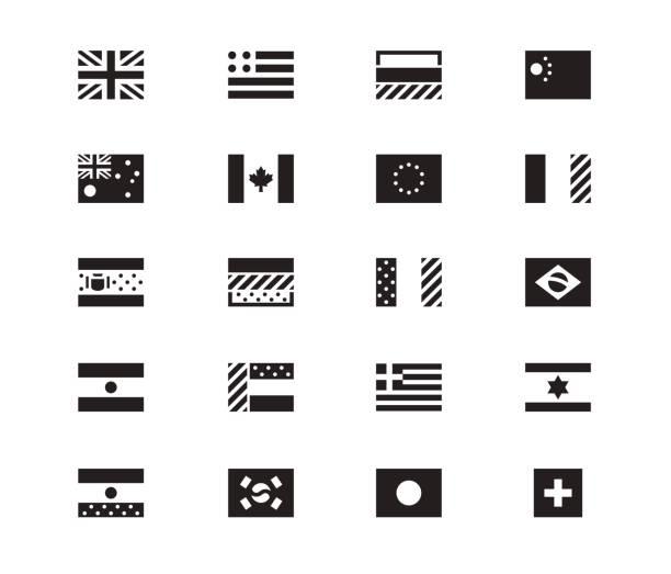 白い背景の上の世界の旗のアイコン。ベクトル図 ベクターアートイラスト