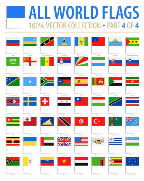 世界フラグのピン - ベクトル フラット アイコン - 4 のパート 4 - ユニオンジャックの国旗点のイラスト素材/クリップアート素材/マンガ素材/アイコン素材