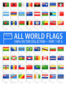 World Flag Pins - Vector Glossy Icons - Part 1 of 4