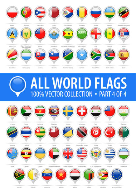 Royalty Free Ukraine Flag Pin Map Icon Vector Illustration Clip Art - Flag pins for maps