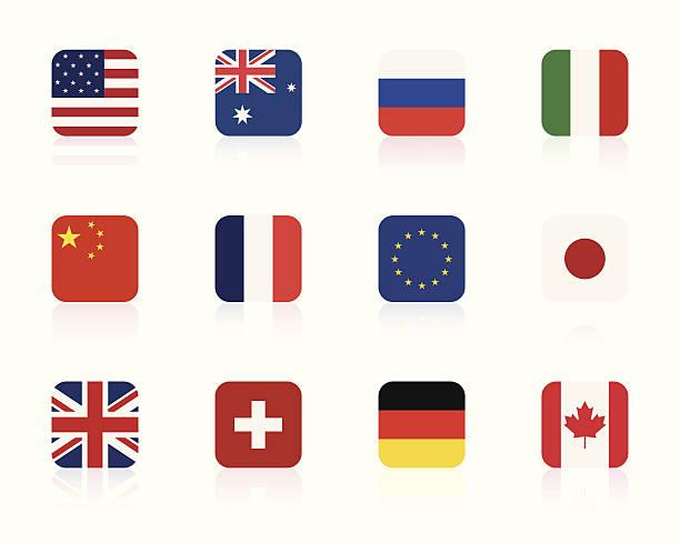 世界のフラグ 1 /㎡ - ユニオンジャックの国旗点のイラスト素材/クリップアート素材/マンガ素材/アイコン素材
