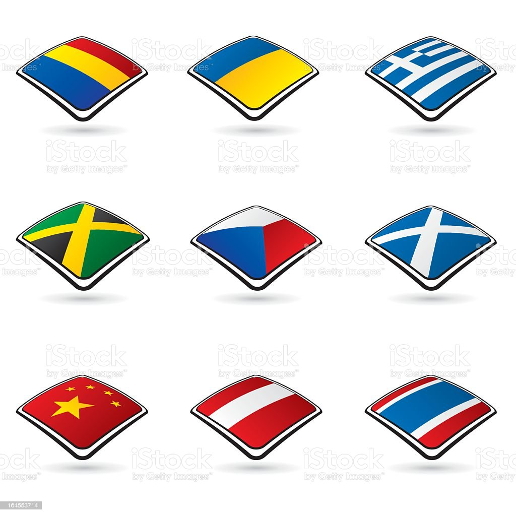 World flags collection A 2/10 royalty-free stock vector art