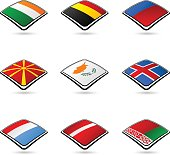 Flags of 9 countries