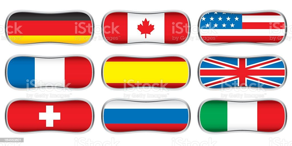 World flags collection B 1/4 royalty-free stock vector art