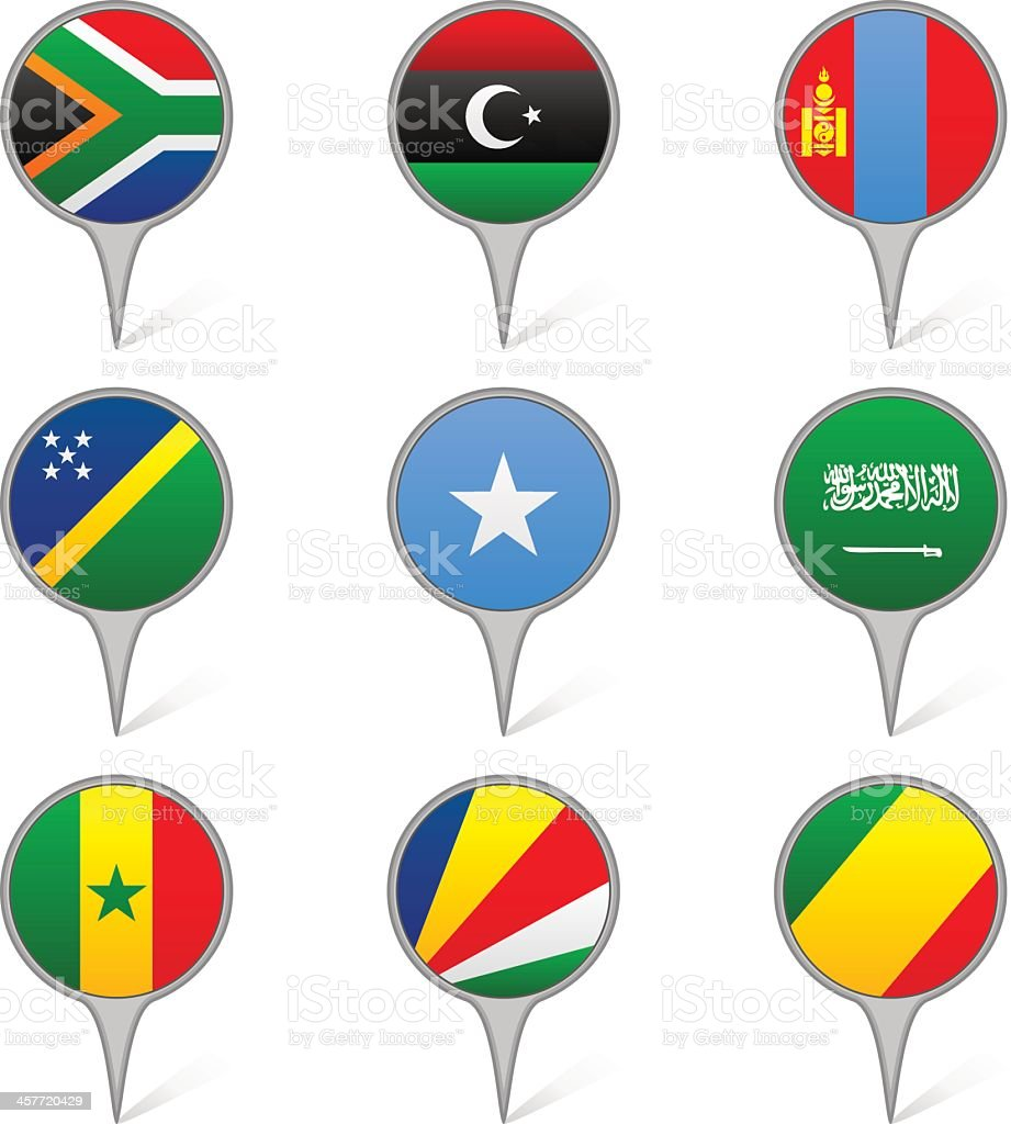 World flags collection G 7/10 royalty-free stock vector art