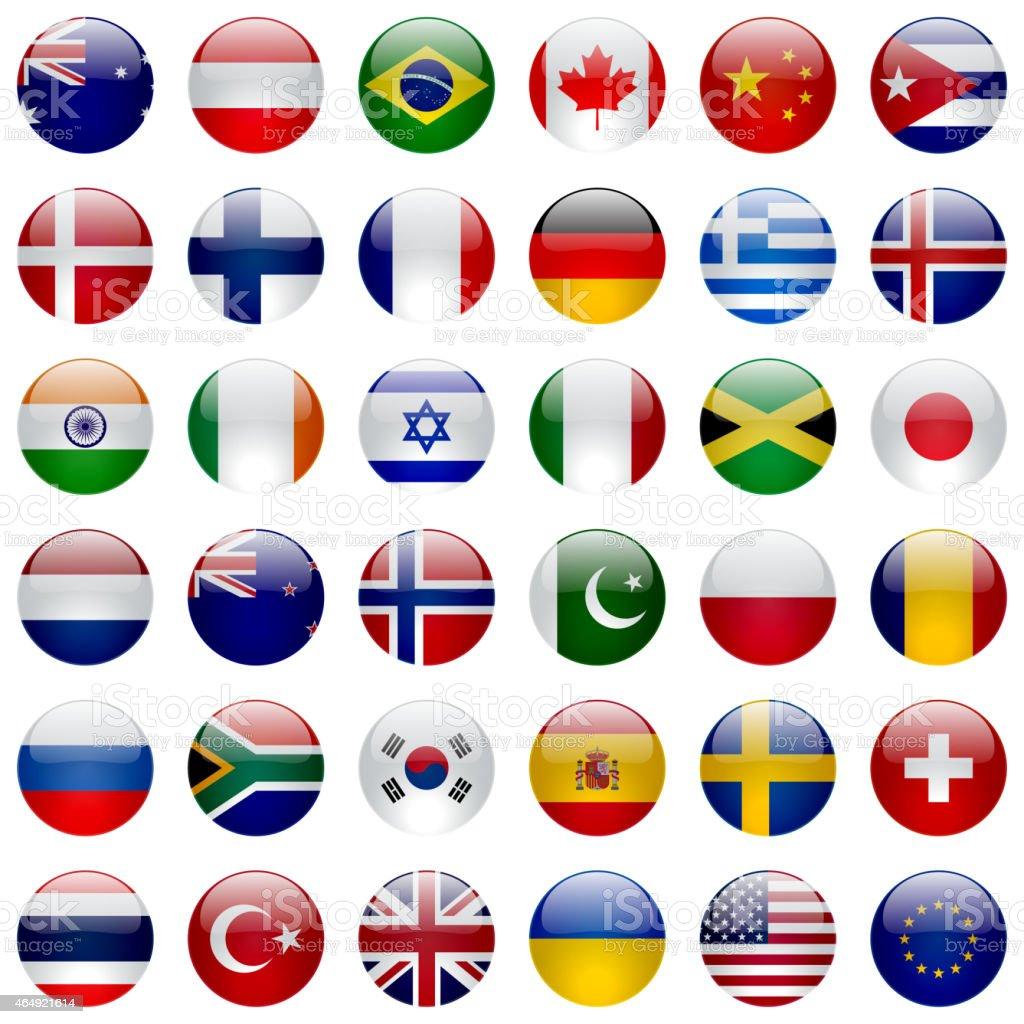 Icona set di bandiere del mondo immagini vettoriali for Immagini vector