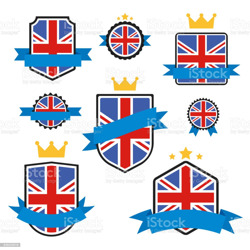 World Flags Series. Vector Flag of United Kingdom. vector art illustration