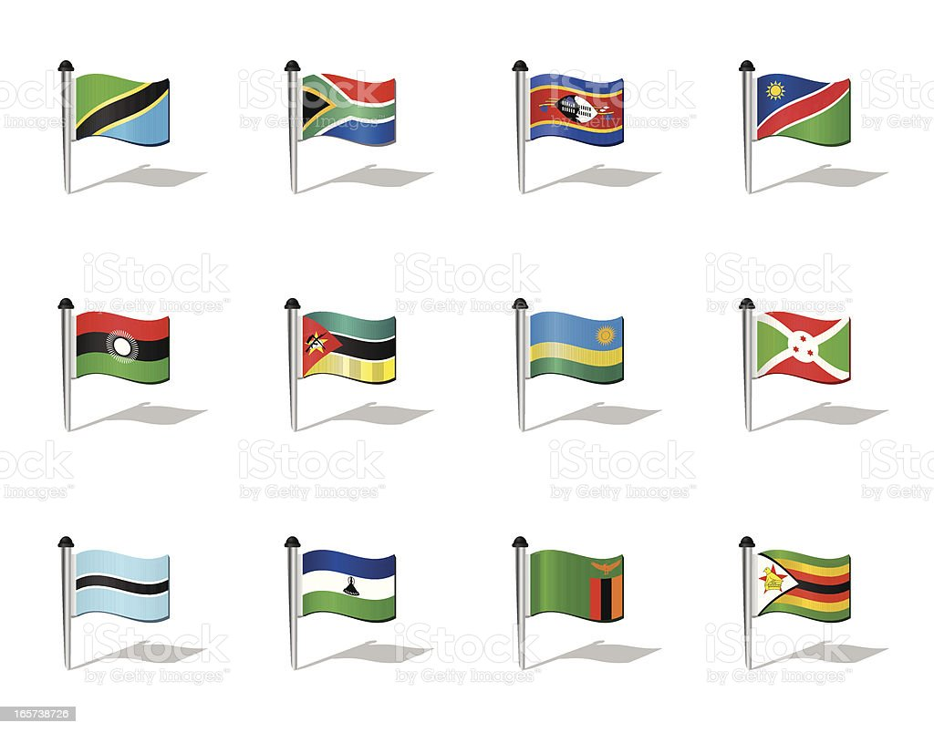 World Flags: South Africa royalty-free stock vector art