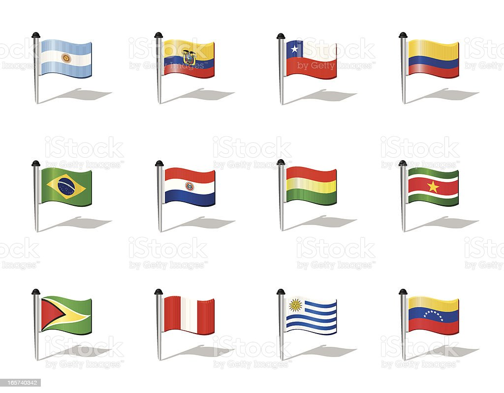 World Flags: South America royalty-free stock vector art