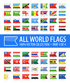 World Flags - Vector Bookmark Glossy Icons - Part 4 of 4